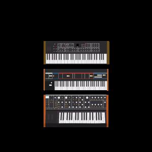 Klavier Piano Musiker Keyboard analoge Synthesizer
