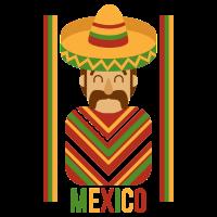 Mexikanische Farben Poncho Siesta Kultur Shirt