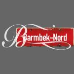 HAMBURG. Barmbek-Nord Schild mit Initial
