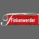 HANBURG. Finkenwerder Schild mit Initial