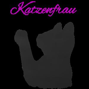 Katzenfrau süße Katze Kater Katzenmama Kätzchen