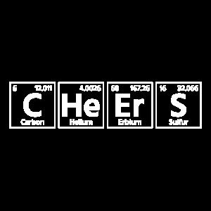 Prost Cheers Wissenschaft Chemie Trinkspruch