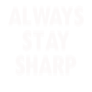 Always stay Sharp Optische Illusion hell