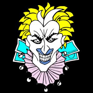 Coole Lustige Jocker Gesicht by Milaino