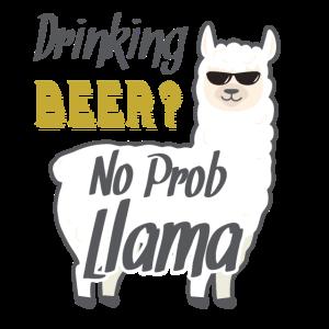 Lama Bier lustig