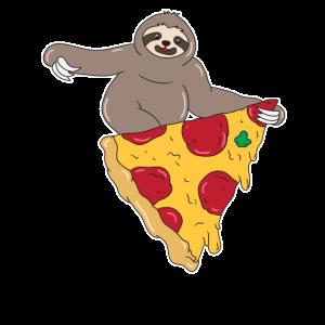 Faultier Pizza Liebhaber Tierliebe Lustig Geschenk