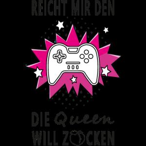 Controller Queen Konsole Zocken Gamer Gaming