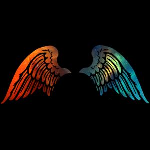 Flügel rot-blau
