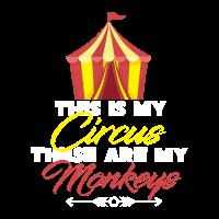 Zirkus Affe Mutter Muttertag Stolze Kinder Mami