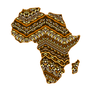 Afrika Karte Muster