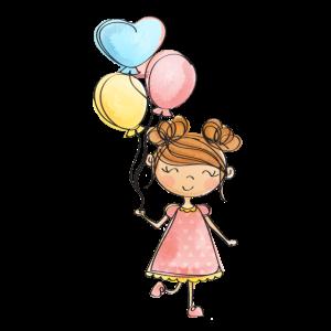 Mädchen mit Luftballons #Trend #Top #Stylisch