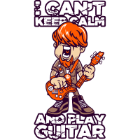 I Can't Keep Calm And Play Guitar Musik Geschenk