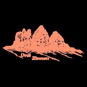 "Die ""Drei Zinnen"" in den Südtiroler Dolomiten"