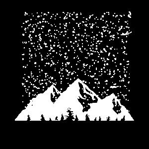 Alpen T-Shirt - Schneefall Winterurlaub Geschenk