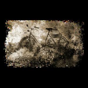 Fahrrad im Vintage Grunge Stil