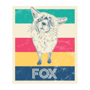"Retro Fuchs Plakat ""FOX"""