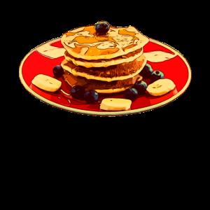 Ahorn Ahornblatt Sirup Pfannkuchen