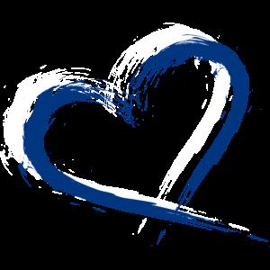 Herz Bürste Flagge Finnland Fahne Farben Blau Weiß