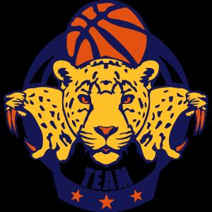 Basketball-Sport-Logo Gepard Profil