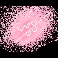 Herzen mit rosa Hintergrund