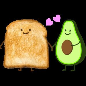 toast und Avocado