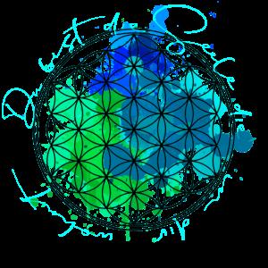 Blume des Lebens - Blau