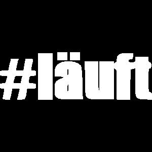 Hashtag läuft [white]