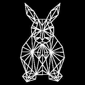 Ostern Osterhase Polygon Geometrisch Geschenk