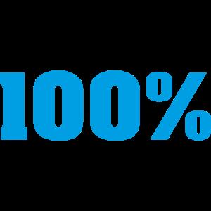 Gib immer alles 100% in Blau!