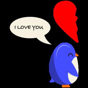 Valentinstag Pinguin love