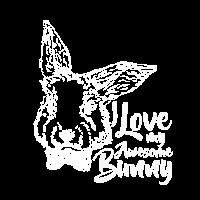 Ich liebe mein fantastisches Häschen-Shirt - niedliches Häschen-Kaninchen