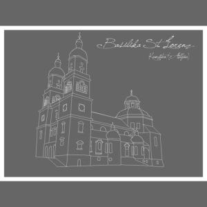 T Shirt Basilika St Lorenz Kempten Allgaeu