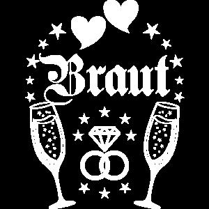 174 Braut Champagner Herzen Diamantring