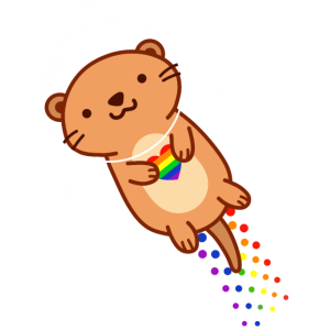 Cute Queer Otter in Otter space