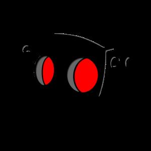 Roboterkopf rot