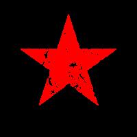 Roter Stern used look Sozialismus Kommunismus DDR