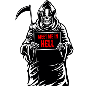 Meet Me In Hell Grim Reaper Halloween Geschenkidee