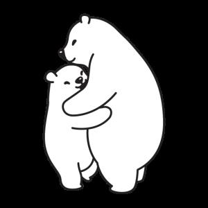 Bären kuscheln weiss