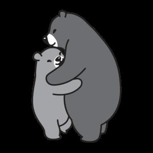 Bären kuscheln grau