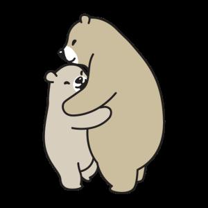 Bären kuscheln braun