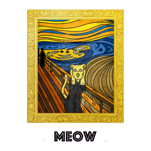 Schrei Katzen Gemälde Kunst Kultur Munch Shirt