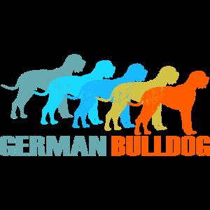 Deutsche Dogge - Vintage Retro Geschenk