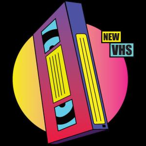 VHS Kassette im Retro Kult Design