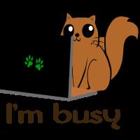 I m Busy Katze Laptop funny