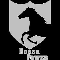 Horse Power Wappen Pferd Kraft silber