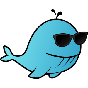 Whale with sunglasses