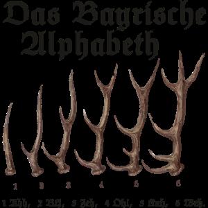 Das Bayrische Alphabet aus Bayern
