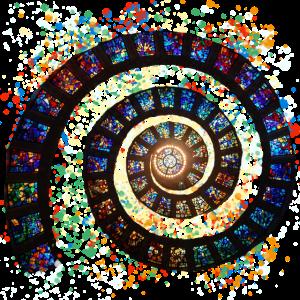 Kirchen Muster Spirale