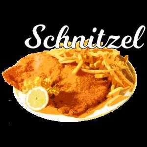 Schnitzel / weiße Schrift