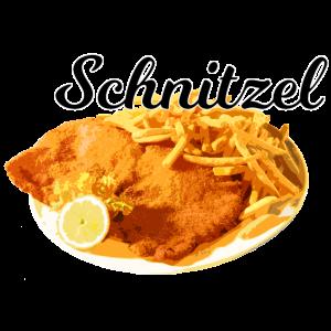 Schnitzel / schwarze Schrift